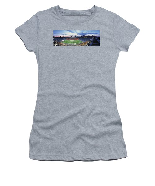 Soldier Field Football, Chicago Women's T-Shirt (Junior Cut) by Panoramic Images