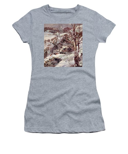 The Russians Fighting Their Way Over The Carpathians Women's T-Shirt (Junior Cut) by Cyrus Cuneo