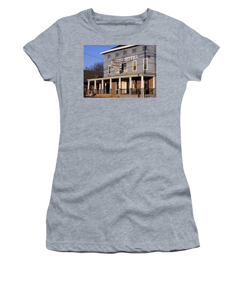 Union Hotel Women's T-Shirt (Junior Cut) by Skip Willits