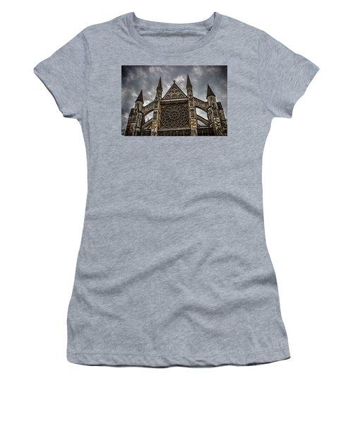 Westminster Abbey Women's T-Shirt (Junior Cut) by Martin Newman