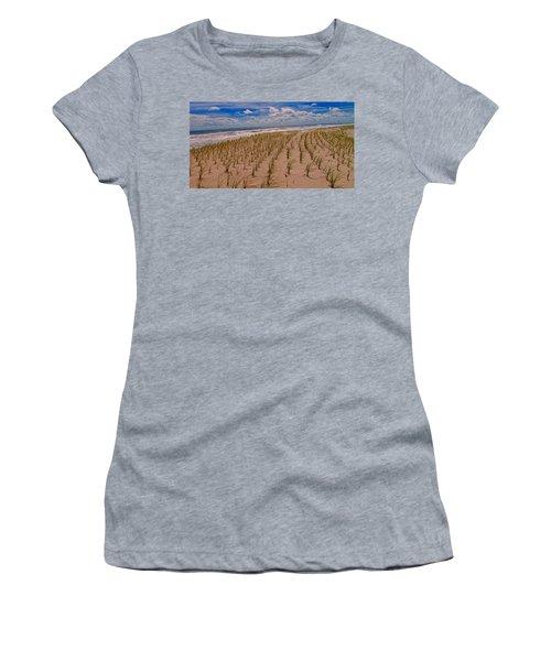 Wildwood Beach Breezes  Women's T-Shirt (Junior Cut) by David Dehner
