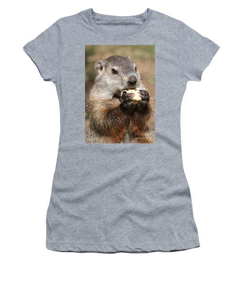 Animal - Woodchuck - Eating Women's T-Shirt (Junior Cut) by Paul Ward