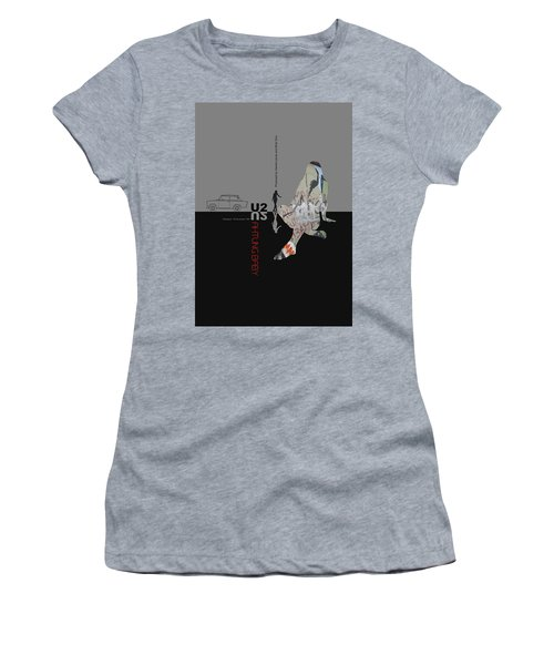 U2 Poster Women's T-Shirt (Junior Cut) by Naxart Studio