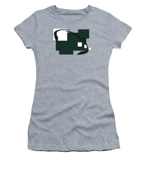 New York Jets Abstract Shirt Women's T-Shirt (Junior Cut) by Joe Hamilton