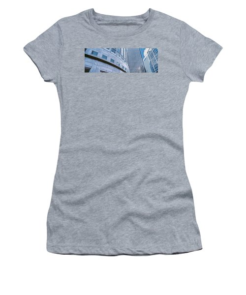 Skyscrapers In A City, Canary Wharf Women's T-Shirt (Junior Cut) by Panoramic Images