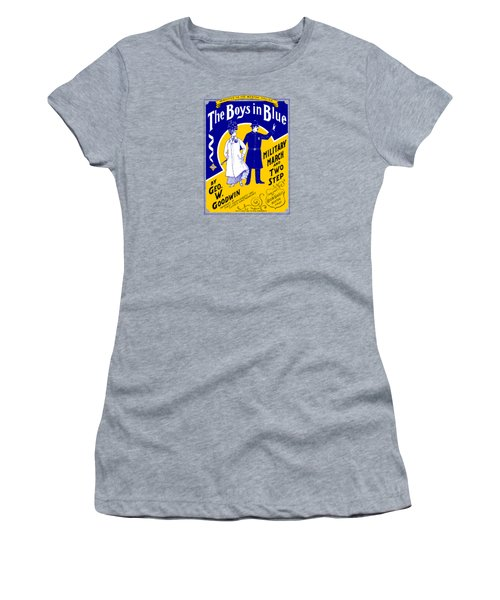 1901 The Boys In Blue, The Boston Police Women's T-Shirt (Junior Cut) by Historic Image