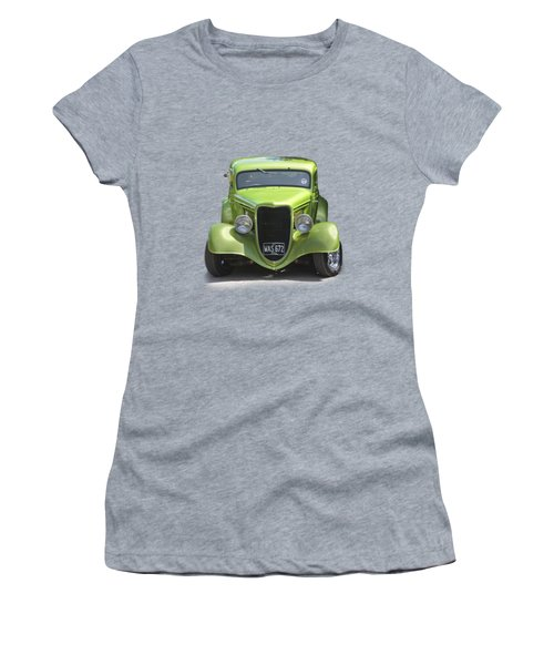 1934 Ford Street Hot Rod On A Transparent Background Women's T-Shirt (Junior Cut) by Terri Waters