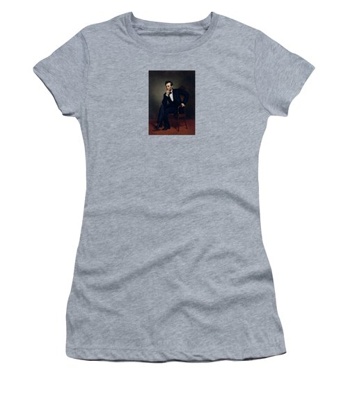 President Abraham Lincoln Women's T-Shirt (Junior Cut) by War Is Hell Store