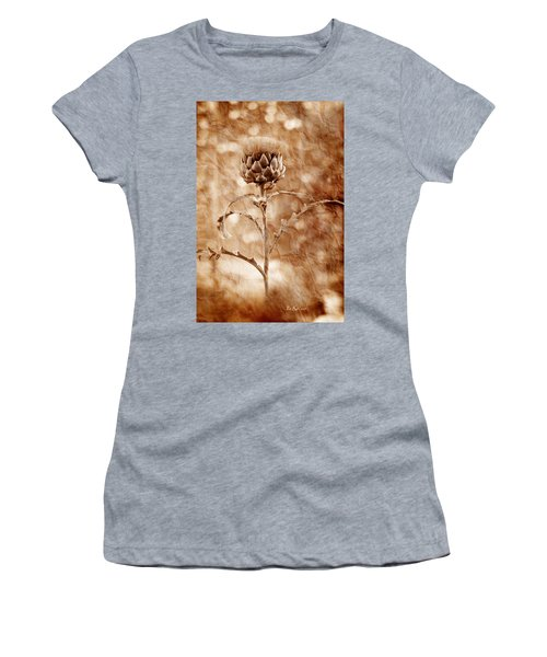 Artichoke Bloom Women's T-Shirt (Junior Cut) by La Rae  Roberts