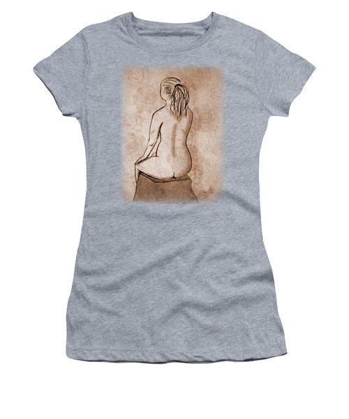 Life Drawing 1 Women's T-Shirt (Junior Cut) by Linda Lees