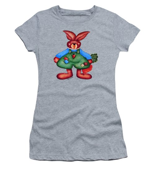 B Is 4bunny Women's T-Shirt (Junior Cut) by Tami Dalton