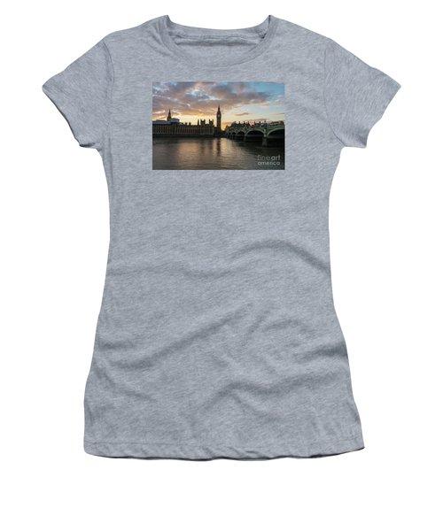 Big Ben London Sunset Women's T-Shirt (Junior Cut) by Mike Reid