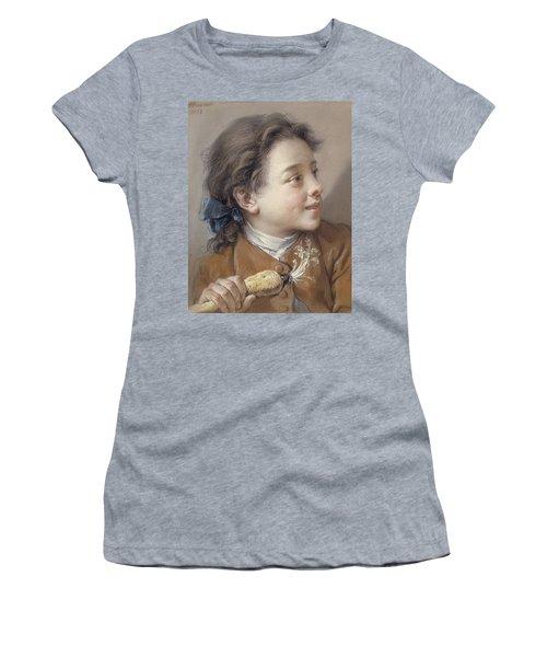 Boy With A Carrot, 1738 Women's T-Shirt (Junior Cut) by Francois Boucher