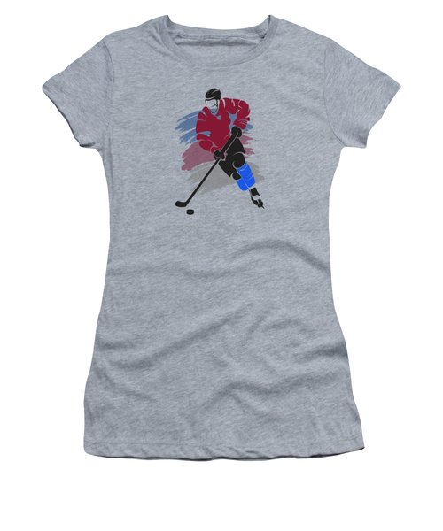 Colorado Avalanche Player Shirt Women's T-Shirt (Junior Cut) by Joe Hamilton