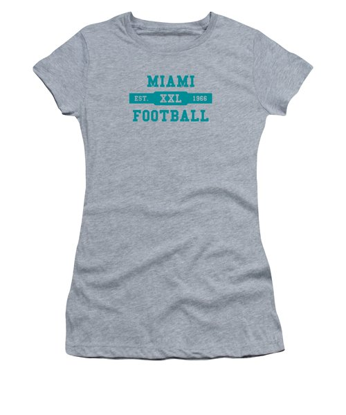 Dolphins Retro Shirt Women's T-Shirt (Junior Cut) by Joe Hamilton
