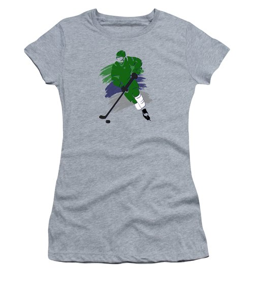 Hartford Whalers Player Shirt Women's T-Shirt (Junior Cut) by Joe Hamilton