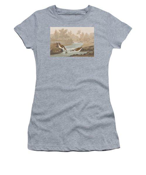 Little Sandpiper Women's T-Shirt (Junior Cut) by John James Audubon