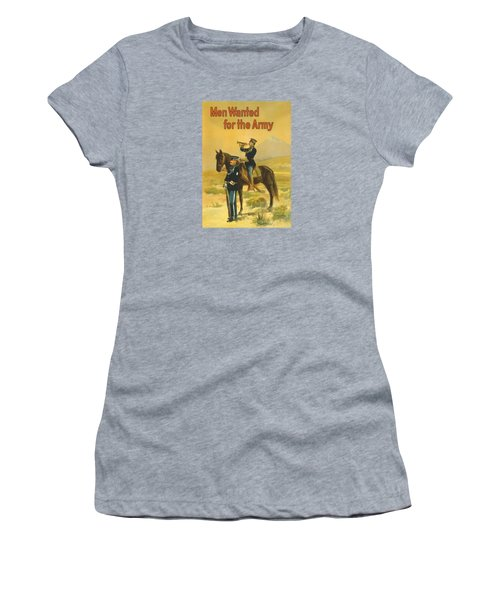 Men Wanted For The Army Women's T-Shirt (Junior Cut) by War Is Hell Store