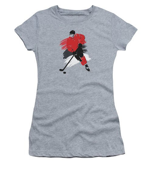 New Jersey Devils Player Shirt Women's T-Shirt (Junior Cut) by Joe Hamilton