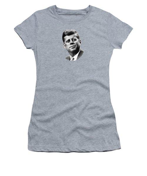 President Kennedy Women's T-Shirt (Junior Cut) by War Is Hell Store