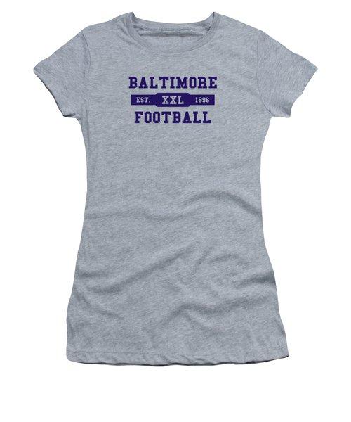 Ravens Retro Shirt Women's T-Shirt (Junior Cut) by Joe Hamilton