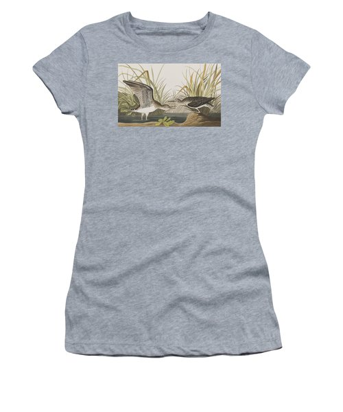 Solitary Sandpiper Women's T-Shirt (Junior Cut) by John James Audubon