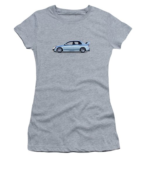The Lancer Evolution Viii Women's T-Shirt (Junior Cut) by Mark Rogan