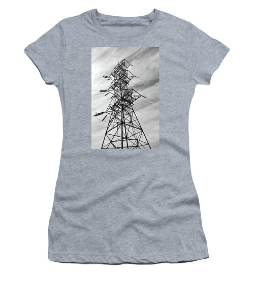 Transmission Tower No. 1-1 Women's T-Shirt (Junior Cut) by Sandy Taylor