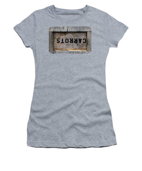 Upside Down Carrot Box Women's T-Shirt (Junior Cut) by Ethna Gillespie