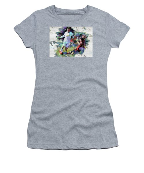Wayne Rooney Street Art Women's T-Shirt (Junior Cut) by Don Kuing