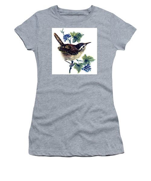 Wren In The Ivy Women's T-Shirt (Junior Cut) by Nell Hill