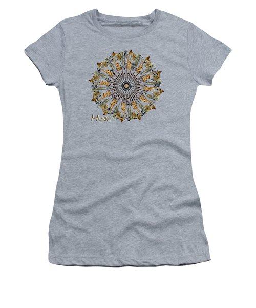 Zeerkl Of Music Women's T-Shirt (Junior Cut) by Edelberto Cabrera