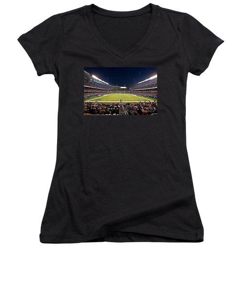 0588 Soldier Field Chicago Women's V-Neck T-Shirt (Junior Cut) by Steve Sturgill