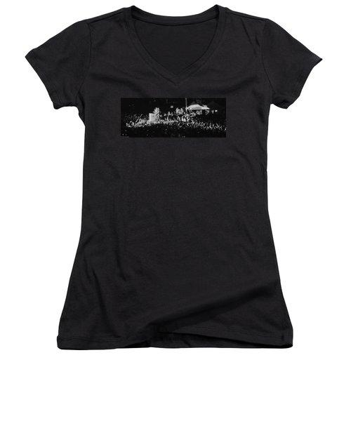 Coldplay - Sydney 2012 Women's V-Neck T-Shirt (Junior Cut) by Chris Cousins