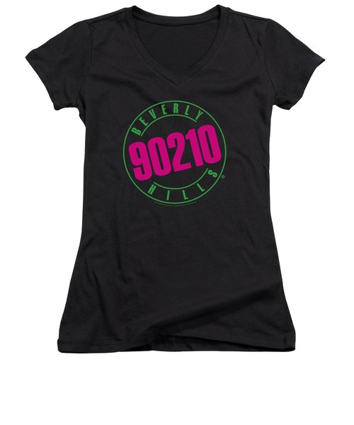 90210 - Neon Women's V-Neck T-Shirt (Junior Cut) by Brand A