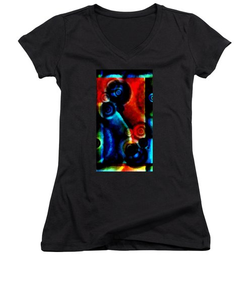 A Drop In The Puddle 1 Women's V-Neck T-Shirt (Junior Cut) by Angelina Vick