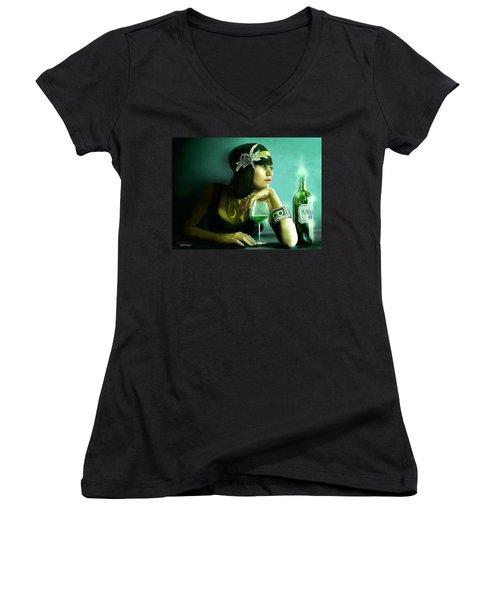 Absinthe Women's V-Neck T-Shirt (Junior Cut) by Jason Longstreet