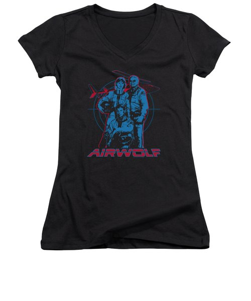 Airwolf - Graphic Women's V-Neck T-Shirt (Junior Cut) by Brand A
