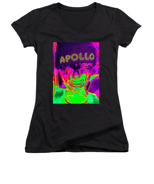 Apollo Abstract Women's V-Neck T-Shirt (Junior Cut) by Ed Weidman