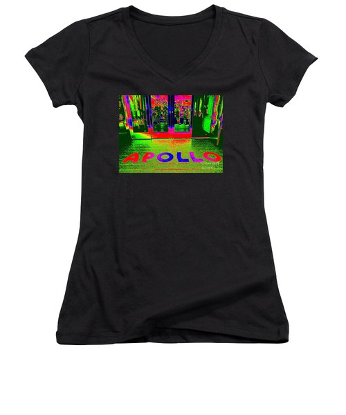 Apollo Pop Women's V-Neck T-Shirt (Junior Cut) by Ed Weidman