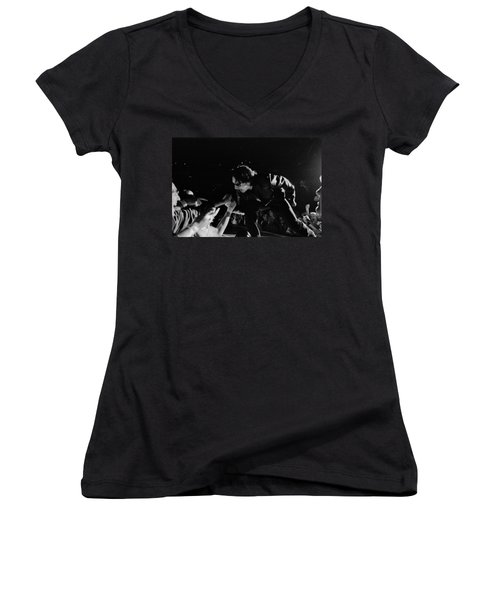 Bono 051 Women's V-Neck T-Shirt (Junior Cut) by Timothy Bischoff