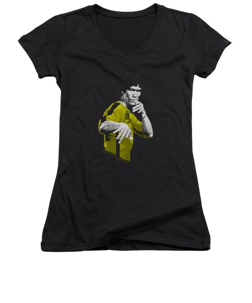 Bruce Lee - Suit Of Death Women's V-Neck T-Shirt (Junior Cut) by Brand A