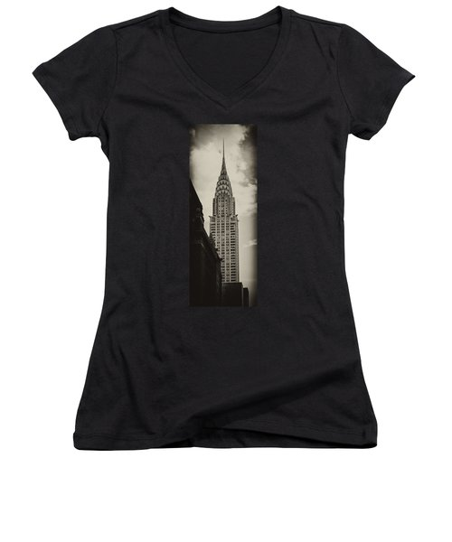 Chrysler Women's V-Neck T-Shirt (Junior Cut) by Andrew Paranavitana