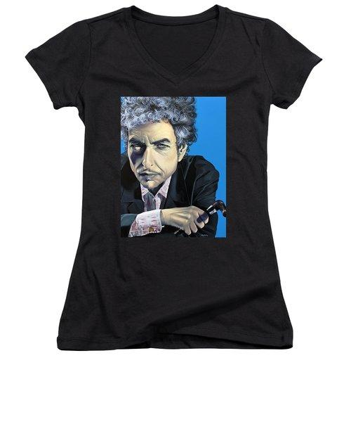 Dylan Women's V-Neck T-Shirt (Junior Cut) by Kelly Jade King