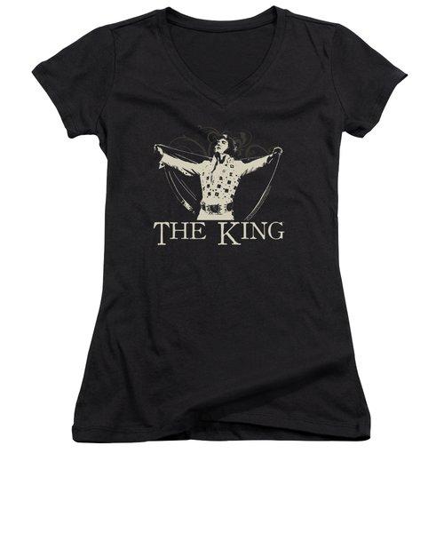Elvis - Ornate King Women's V-Neck T-Shirt (Junior Cut) by Brand A