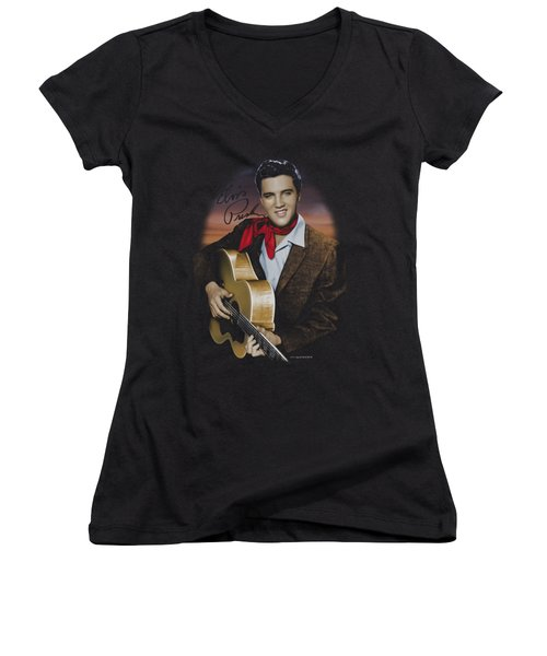 Elvis - Red Scarf #2 Women's V-Neck T-Shirt (Junior Cut) by Brand A