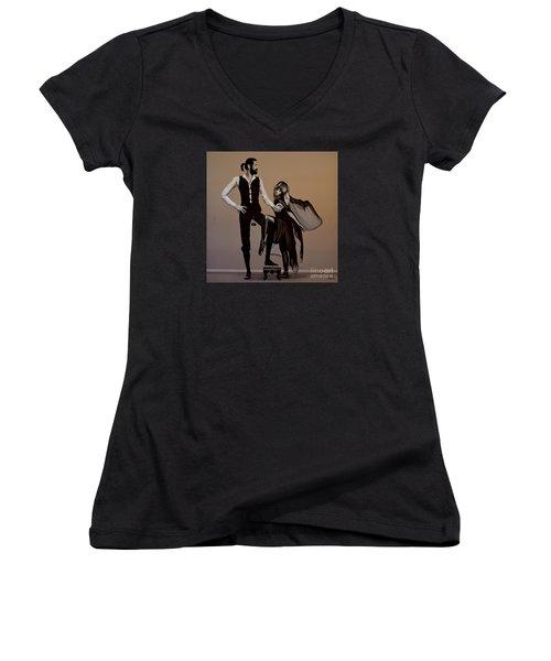 Fleetwood Mac Rumours Women's V-Neck T-Shirt (Junior Cut) by Paul Meijering