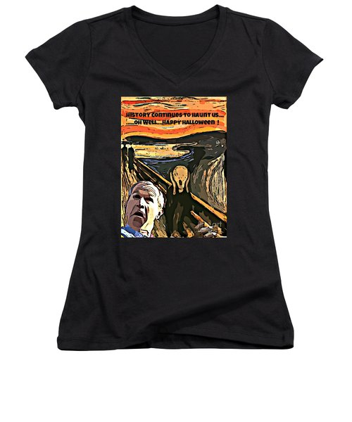 Ghosts Of The Past Women's V-Neck T-Shirt (Junior Cut) by John Malone