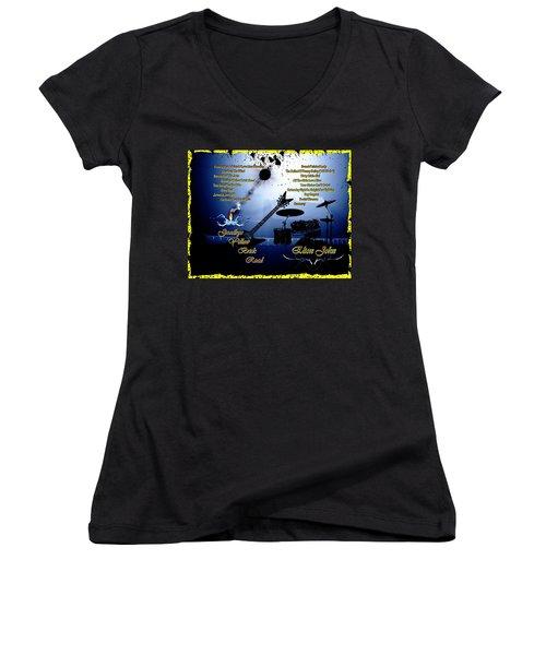 Goodbye Yellow Brick Road Women's V-Neck T-Shirt (Junior Cut) by Michael Damiani