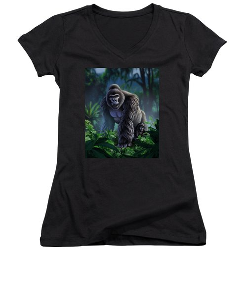 Guardian Women's V-Neck T-Shirt (Junior Cut) by Jerry LoFaro